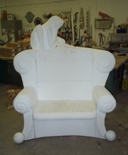 Farrar Chair carved in foam.