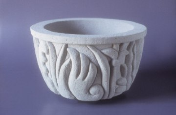 Wet carved concrete, Phyto Planter, by Elder Jones