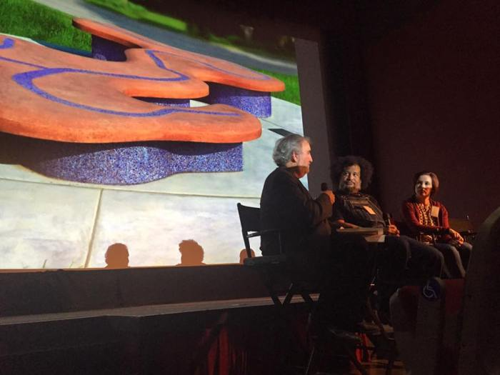 Craig Nutt leads panel discussion on public art.