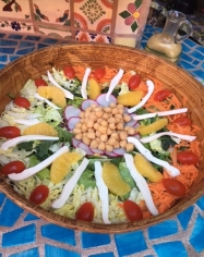 A beautiful salad everyday as part of the lunch buffet.
